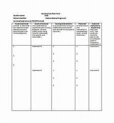 Nursing Templates Free 10 Sample Nursing Care Plan Templates In Pdf Ms Word