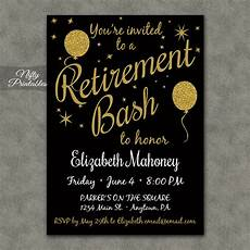 Retirement Invitations Online Retirement Party Invitations Printable Black Amp Gold