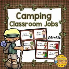 Camping Jobs Camping Classroom Jobs By Coffman S Creative Classroom Tpt