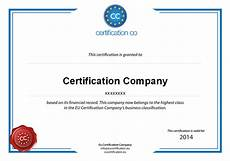 Company Certification Sample Certificate Eu Certification