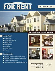 Free Apartment Advertising Flyers For House Renting Flyer Www Real Estate Templates