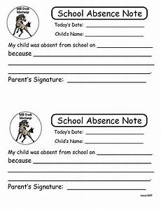School Absence Note Template Free 6 Best Images Of Printable Notes For School Absence