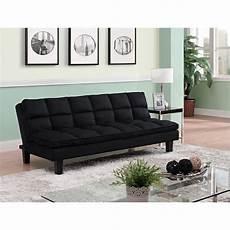 dorel dhp allegra pillow top convertible futon sofa in black
