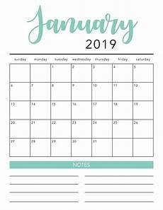 Download Blank Calendar Free 2019 Printable Calendar Template 2 Colors I
