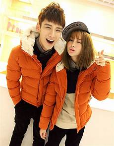 couples coats winter jacket hooded cotton padded light winter