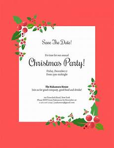 Annual Holiday Party Invitation Template 006 Free Christmas Save The Date Templates For Word