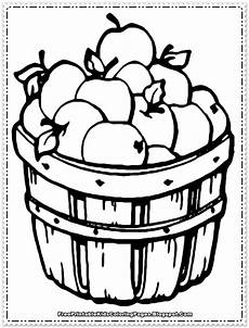 apple fruit coloring pages printable free printable