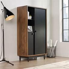 60 two door casual storage cabinet in walnut mathis