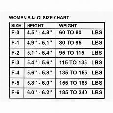 Tatami Women S Gi Size Chart Size Chart For Women Gi S