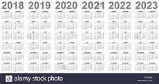 Multi Year Calendar Simple Editable Vector Calendars For Year 2018 2019 2020