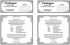 contoh surat undangan walimatussafar haji contoh isi