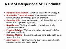 What Is The Definition Of Interpersonal Skills Skills In Interpersonal Relationships Soft Skills