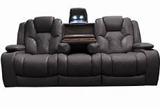 bastille power reclining sofa with drop table at