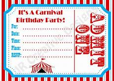 Carnival Theme Party Invitations Templates Carnival Invite Circus Invite Circus By Jrcreativedesigns