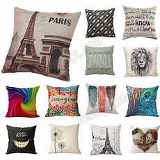 home bed decor cotton linen square decorative throw pillow