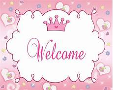 Welcome Baby Girl Pink Crown Princess Party Welcome Sign For Baby Girl