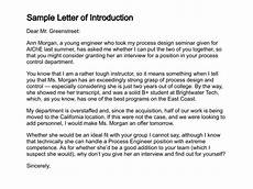 Introduction Letter Samples 12 Sample Introduction Letters Sample Letters Word