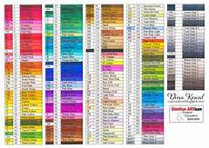 Memento Markers Color Chart Dina Kowal Creative Touch Marker Color Charts