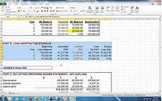 Buy Versus Lease Analysis On Excel Lease Buy Analysis Ex1 Pat Obi Youtube