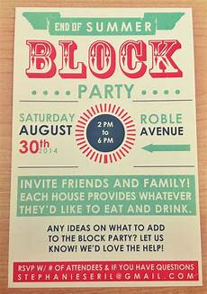 Summer Party Invite Summer Invite Typography Google Search Block Party