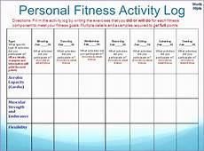 Fitness Log Example Personal Fitness Plan Activity Log Answers Archives Work