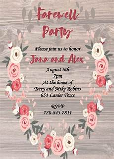 Invitation Card For Farewell Party To Seniors Going Away Party Invitations New Selections Summer 2020
