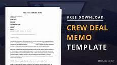 Free Download Memo Download Free Crew Deal Memo Template