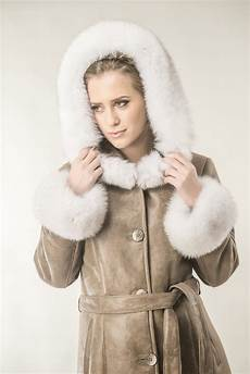 womens fur coats winter womens fur coat made with nappa leather and fox fur