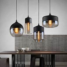 En Lighting Loft Vintage Pendant Light Art Glass Black White Gray