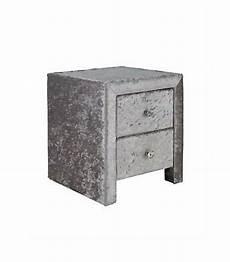 crushed velvet silver bedside table 2 drawer in blackley