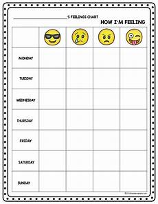 Mood Behavior Chart Emoji Feeling Faces Feelings Recognition Kiddie Matters