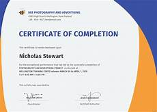 Blank Certificate Of Completion Template Free Completion Certificate Template In Adobe Photoshop