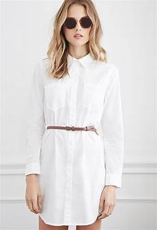 forever 21 belted classic shirt dress you ve been added to