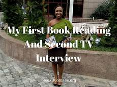 My First Interview My First Book Reading And Second Tv Interview Grace And
