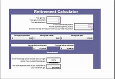 Excel Retirement Calculator 15 Business Financial Calculator Templates For Excel