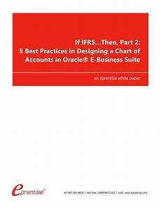 Netsuite Chart Of Accounts Best Practices If Ifrs Then Part 2 5 Best Practices In Designing A