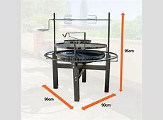 Outdoor Round BBQ Grill with Rotisserie and Tool Set