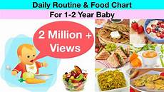 2 Year Old Food Chart Daily Routine Amp Food Chart For 1 2 Year Old Baby Hindi