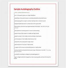 Auto Biography Outline Sample Autobiography Outline Autobiography Template