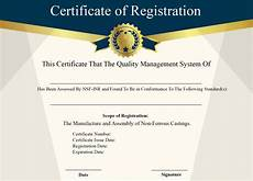 Company Certification Sample Free Sample Certificate Of Registration Certificate Template