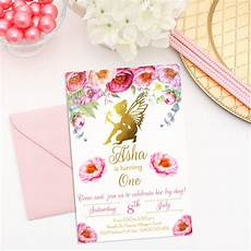 Fairy Party Invite Floral Fairy Digital Invitation Print Amp Party