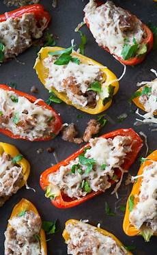 sausage stuffed mini sweet peppers recipe day appetizer