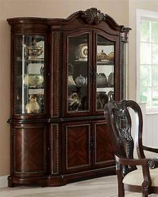coaster traditional buffet hutch china cabinet