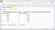 Net Present Value Calculator How To Calculate Net Present Value Npv In Excel Youtube