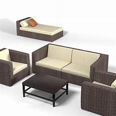 Wicker Rattan Sofa 3d Image by Dedon Wicker Wowen 3d Model