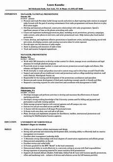 Resume For A Promotion Promotions Resume Samples Velvet Jobs