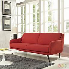 Sofa Mid Century Modern 3d Image by Mid Century Modern Verve Upholstered Sofa With Wood Frame