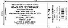 Blank Ticket Stub Template 8 Best Images Of Printable Concert Ticket Stubs Free