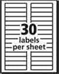 Avery 30 Per Page Labels Amazon Com Avery Easy Peel Address Labels For Inkjet