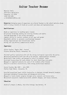 Music Teacher Resume Sample Resume Samples Guitar Teacher Resume Sample